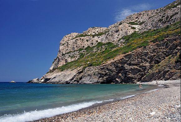 Pebble beach of Lionas