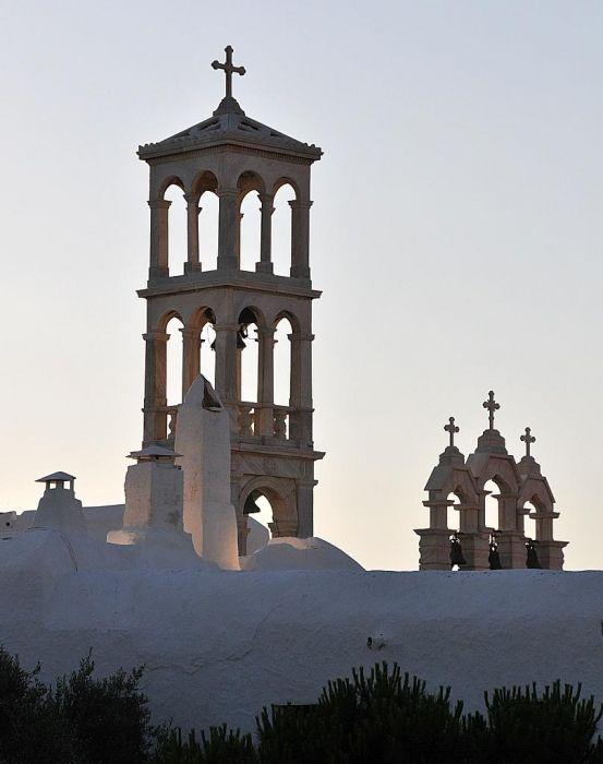 Monastri Tourliani at sunset