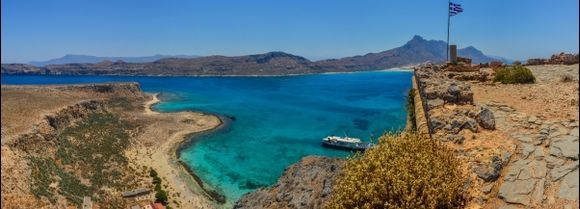 Panoramic view from Gramvousa to Crete.