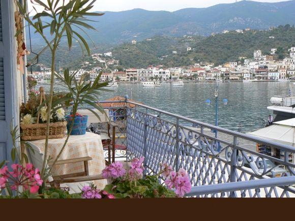 Poros balcony view