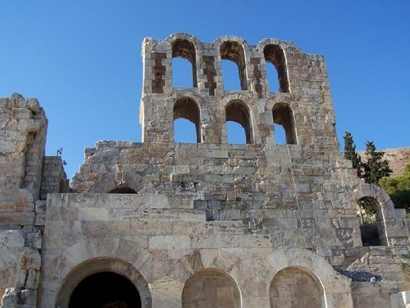 Detail of Odeon of Herodes Atticus (back view)