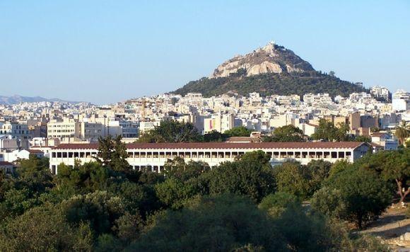 Stoa of Attalos - Ágora and Lycabettus hill