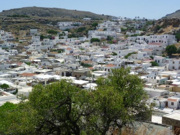 View over Lindos from the Acropolis