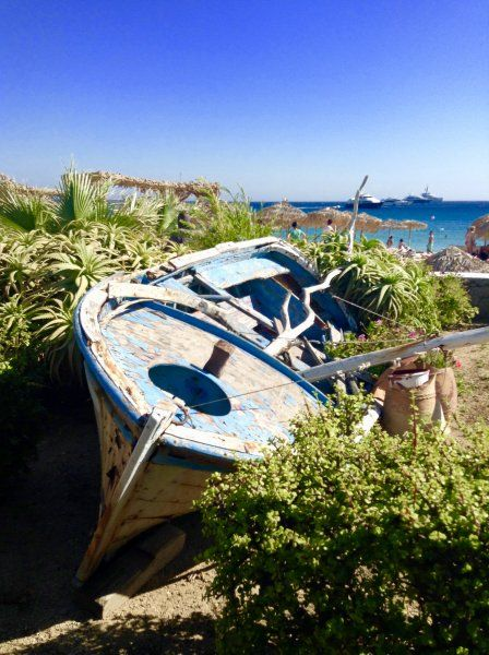 Old fishing boat in Plati Yiallos
