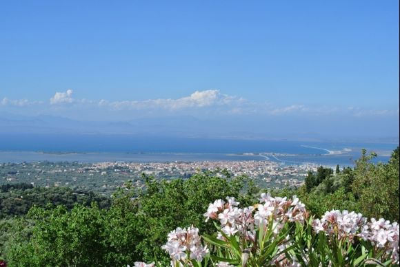 panorama of the Lefkada town