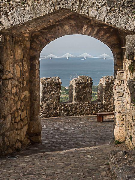Rio Antirio Bridge from the Venetian castle.