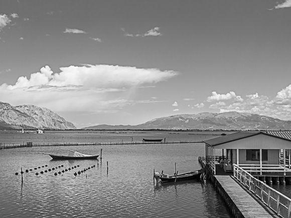 Scene on the sea lakes of Mesolongi.