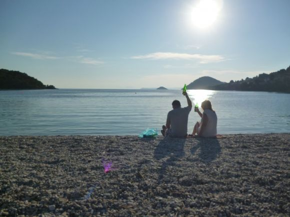 Panormos beach before sunset - Yammas!