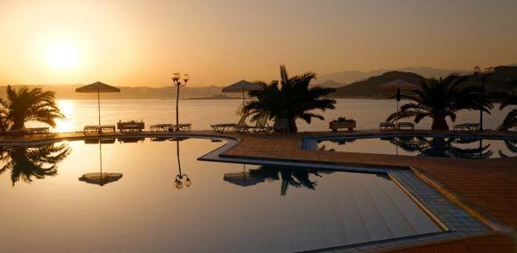 Sunrise at the hotel Kissamos