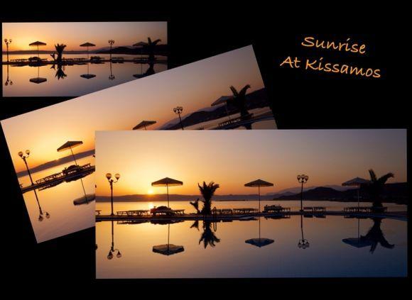 Sunrise at Kissamos Fun on Ipad ;-)