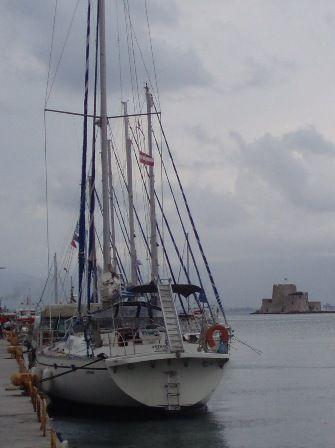 Sailing boat and Burtzi island
