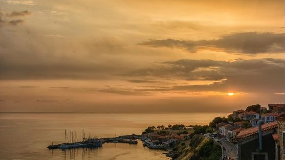 Sunset over Molivos