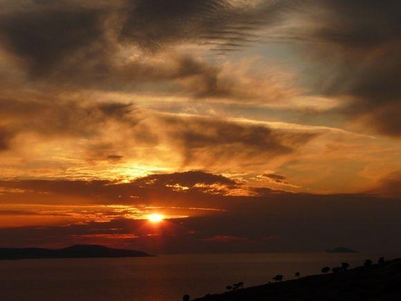 Sunset on Arki island (east of Patmos)