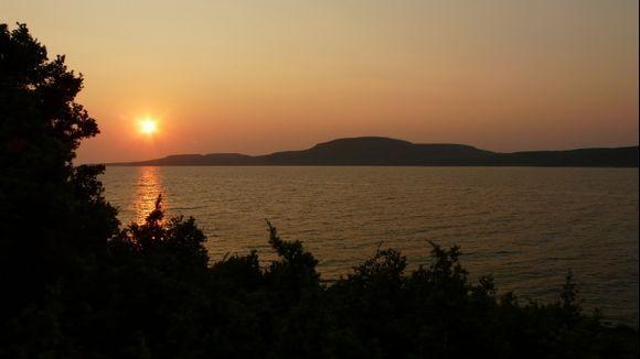 Sunset at Cape Elena between Sarakiniko and Simou beaches