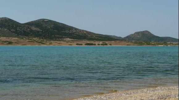 Despotiko islet on the south of Antiparos