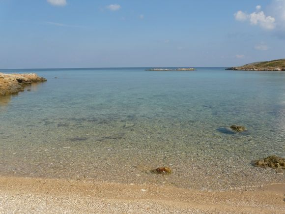 Tiganakia bay at the south of Arki, little Dodecanissos island located on the east of Patmos