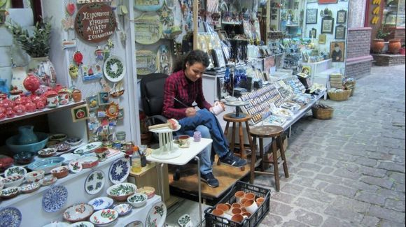 Home-made ceramic in Agiassos