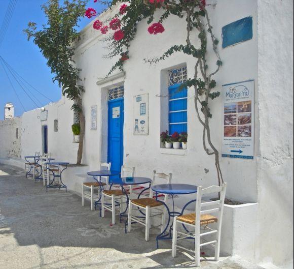 Traditional kafeneio in Panagia