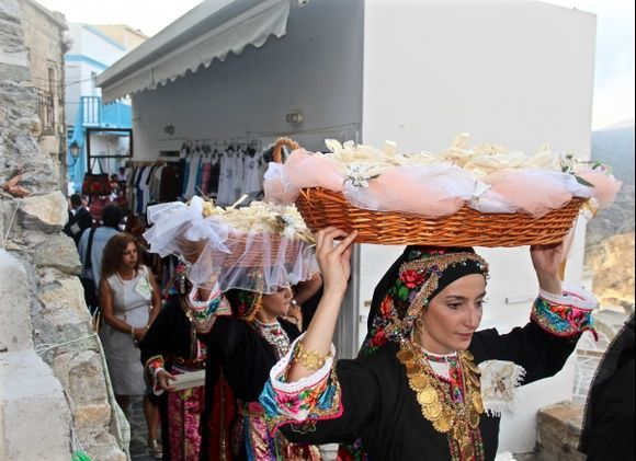 Traditional wedding in Olympos