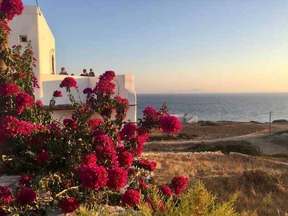 Sunset time in Stavros