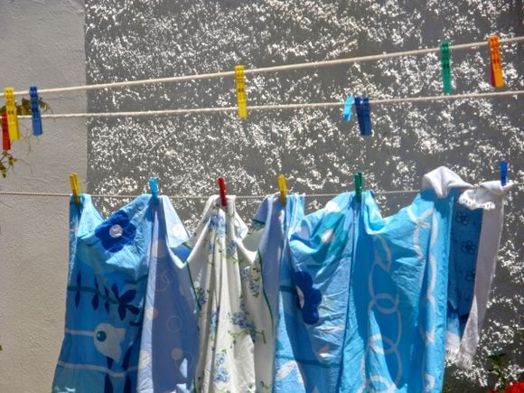 Washday in Donoussa...