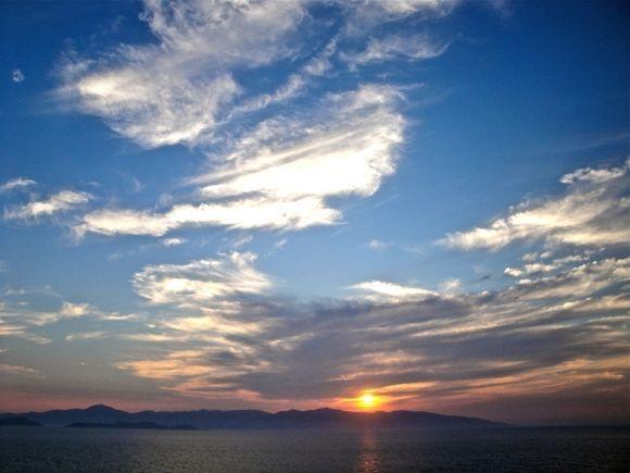 Sunset over Naxos