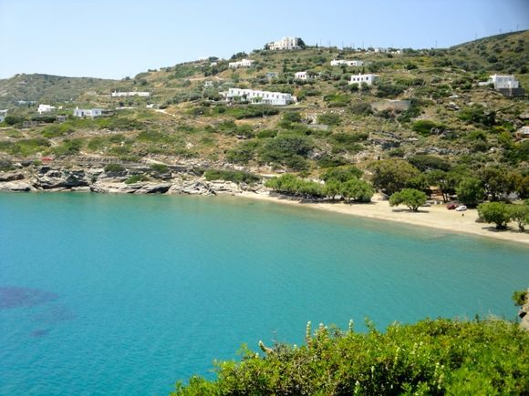 Apokoftos beach from the path from Faros to Chrissopygi