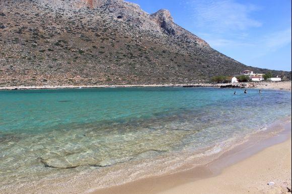 Stavros beach, in Akrotiri