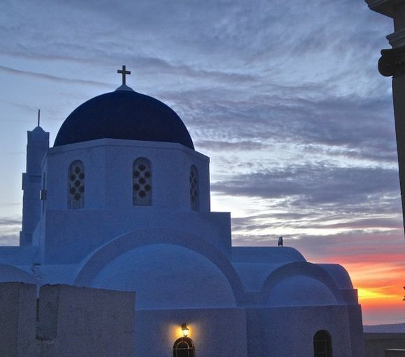 Sunset in Pyrgos