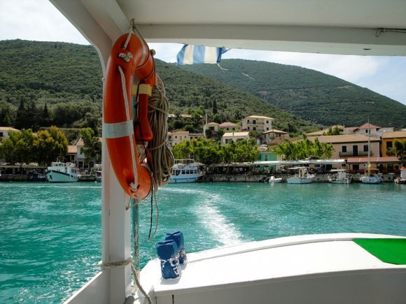 From the boat going to Agiofili beach