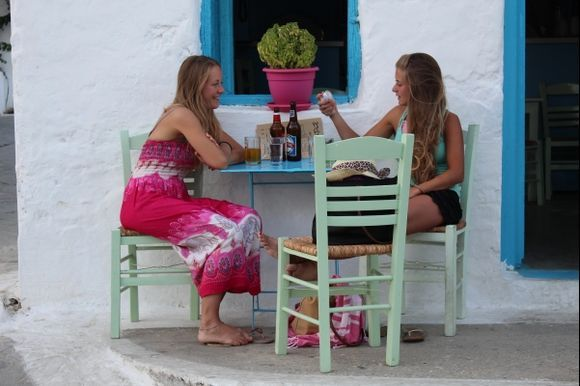 Two girls, two beers, a small island :-)))