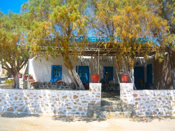 Taverna in the little square of Arki island, near Lipsi