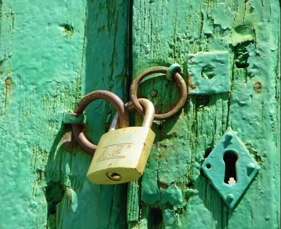 Beyond an old, green door