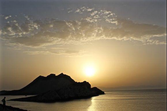 The last ray of sun over Nikouria