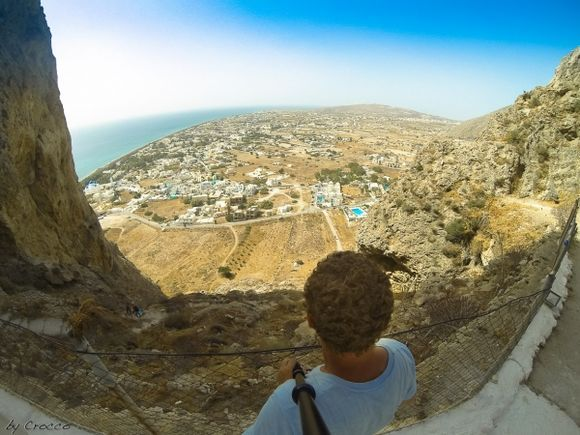 View from the church of Panagia Katefiani in Santorini