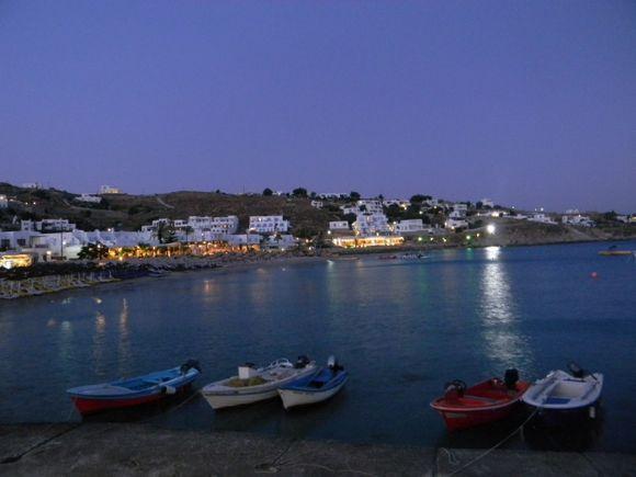 Night Time Platis Gialos Mykonos