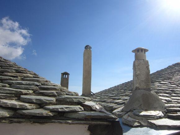 Traditional roofs in Makrinitsa