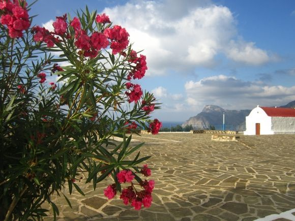 The enchanting terrace of Mesochori village