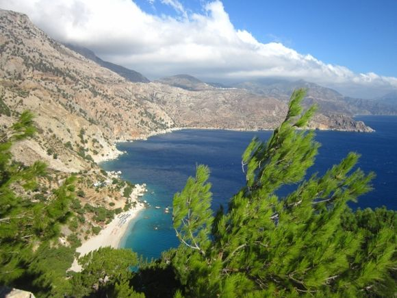 Breathtaking view of Apella beach