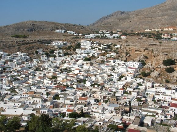 Lindos from the Acropolis