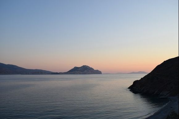 Sunset seen from Psili Ammos
