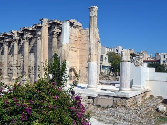 Remains of the Hadrian's Library in Monastiraki square