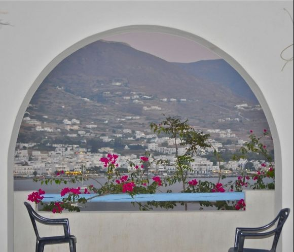 The view from our flat in Paros