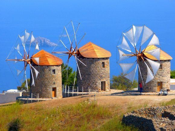 Windmills at Patmos chora