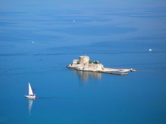 Bourtzi fortress surrounded