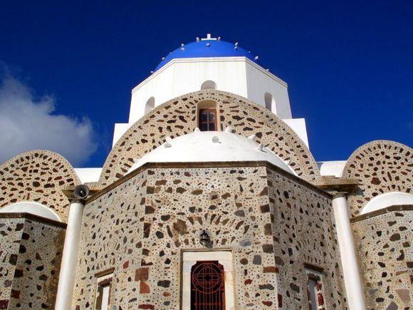 Santorini\'s domes - Messaria