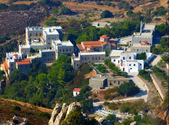 Monastery of Annunciation of St. Angel's viewed from Profitis Ilias