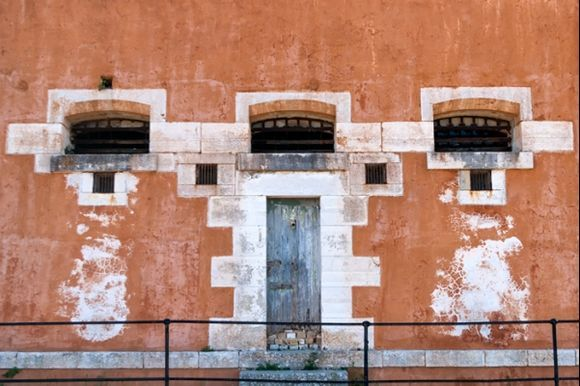 Details on building ;Old fortress Corfu town