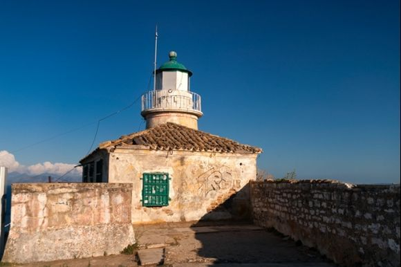 Lighthouse in the Old Fortress in Corfu city