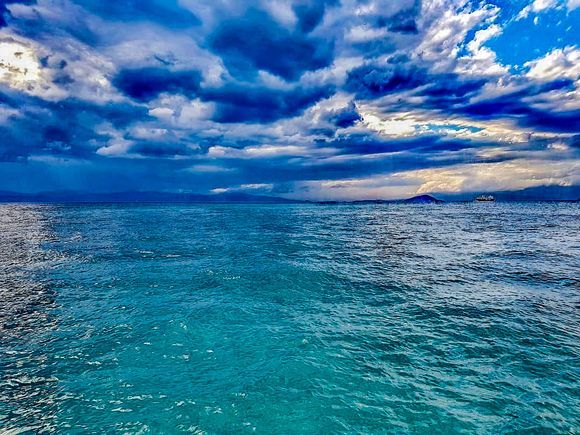 Fifty shades of blue.